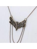 Кулон ярусный «Стрекозка» с бронзовым покрытием
