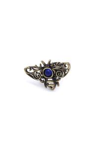 Перстень «Бджілка ультрамарин» з бронзовим покриттям