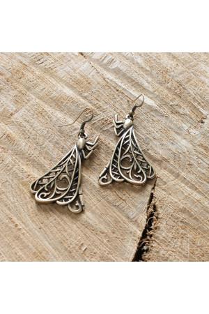 Сережки «Бабки» з бронзовим покриттям