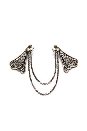 Брошь «Стрекозки» с бронзовым покрытием
