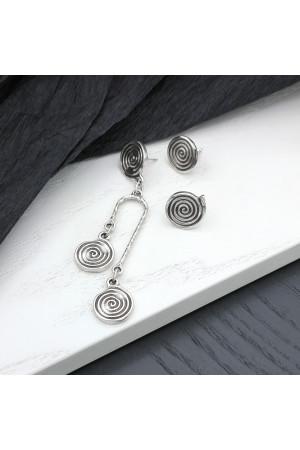 Сережки-пусети «Асиметрія Паллада»