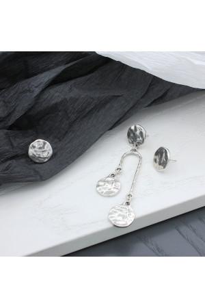 Сережки-пусети «Асиметрія Електрум»