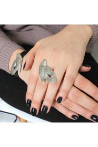 Кольцо «Птаха» серебро