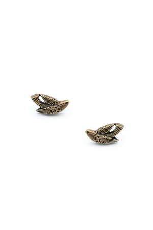 Сережки-пусети «Птаха» бронза