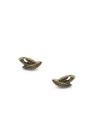 Серьги-пусеты «Птаха» бронза