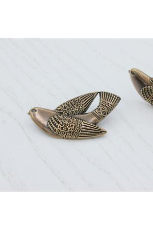 Брошь «Птаха» бронза
