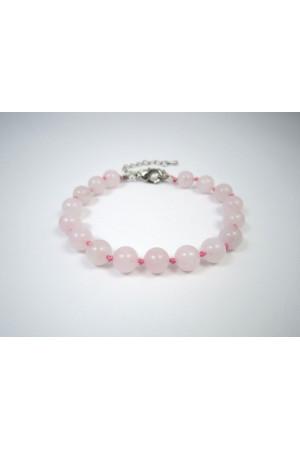 Браслет «Мечта» из розового кварца