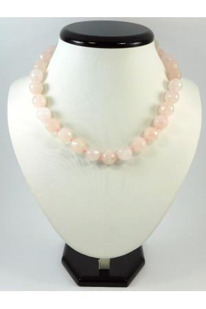 Ожерелье «Грань» из розового кварца