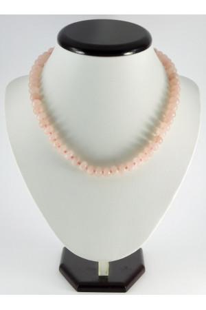 Намисто «Рондель» з рожевого кварцу