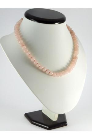 Ожерелье «Рондель» из розового кварца