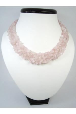Намисто «Комірець» з рожевого кварцу