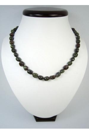 Ожерелье «Бочонок» из яшмы