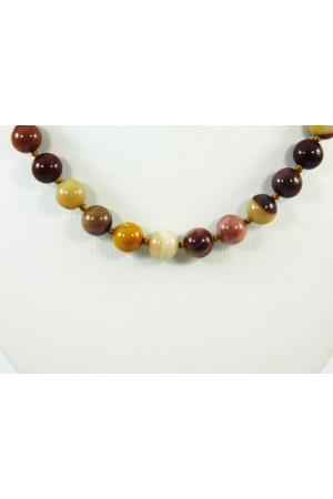 Ожерелье «Ирис» из яшмы и мукаита