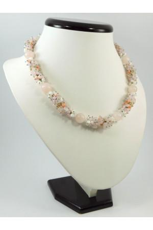 Ожерелье «Эксклюзив» из розового кварца