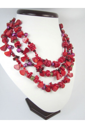 Коралловое ожерелье «Вербена»