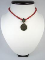 Эксклюзивный коралловый чокер «Монета Сигизмунда»