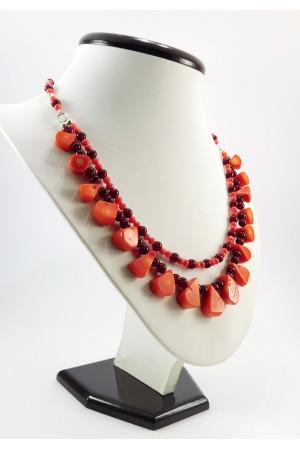Ожерелье из кораллов «Осенние бархатцы-2»