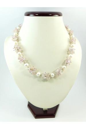 Ожерелье «Розовая вуаль»