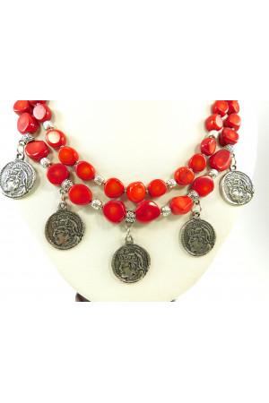 Коралловое ожерелье «Христя»