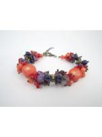 Коралловый браслет «Танец цветов»
