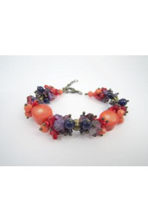Браслет з коралів «Танок квітів»
