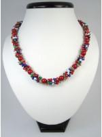 Коралловое ожерелье «Вышиванка»