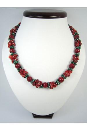 Коралловое ожерелье «Гармония»