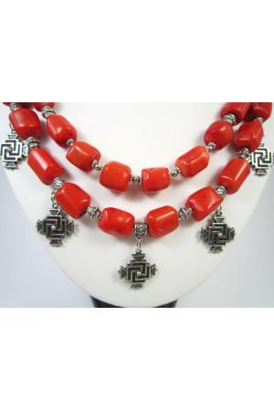 Коралловое ожерелье «Августина»