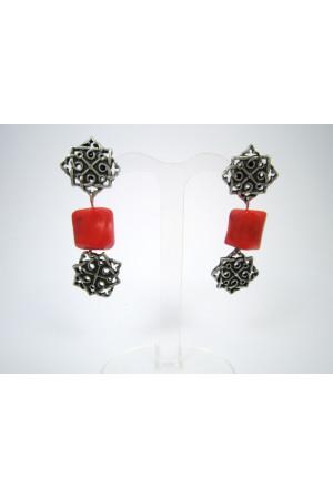 Сережки з коралів «Августина»