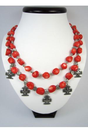 Коралловое ожерелье «Забытые обереги»