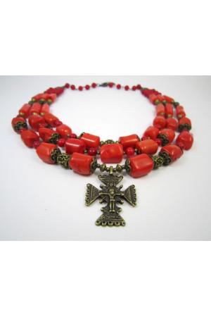 Коралловое ожерелье «Анничка»