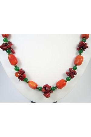 Намисто з коралів «Осінні ягоди»