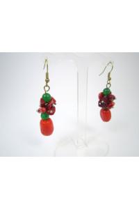 Сережки з коралів «Осінні ягоди»