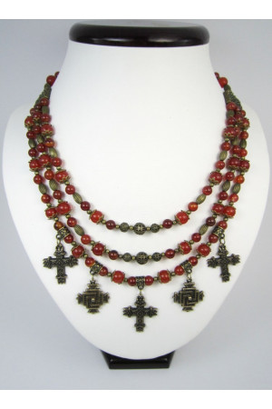 Ожерелье из сердолика «Рогнеда»