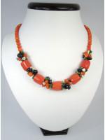 Эксклюзивное ожерелье из кораллов оранжевого цвета