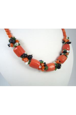 Ексклюзивне намисто з коралів оранжевого кольору