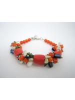 Браслет з коралів оранжевого кольору