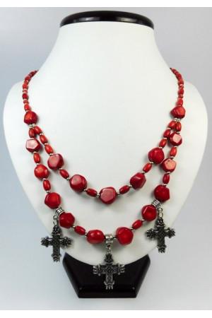 Ожерелье из красных кораллов «Аста»