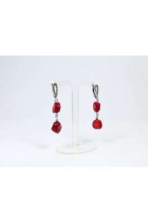 Сережки з червоних коралів «Аста»
