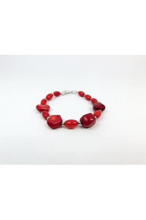 Браслет з червоних коралів «Аста»