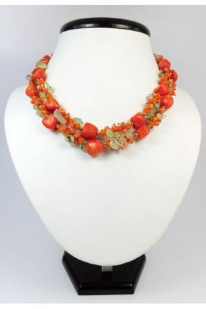 Ожерелье из кораллов «Оранжевая осень»