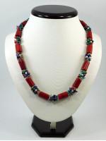Ожерелье из кораллов и аметистов «Вышиванка»