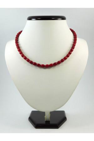 Ожерелье из кораллов с серебряной фурнитурой