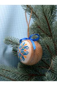 """Ялинкова кулька """"Цвіт папороті"""" синього кольору"""