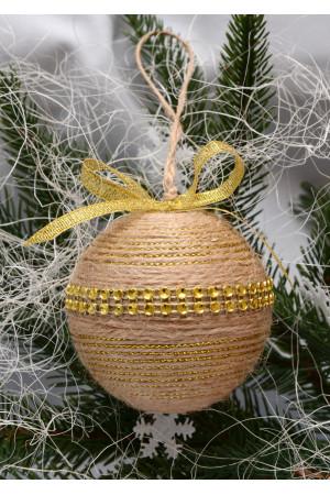 Елочный шар «Золотая тесьма»