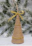 Прикраса «Ялинка» з золотавою тасьмою