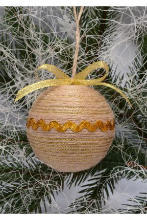 Ялинкова кулька «Кантрі» з золотистою тасьмою