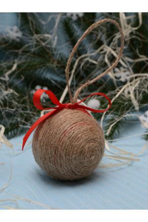 """Елочный шар """"Рождественская звезда"""" красного цвета"""