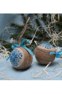 """Ялинкова кулька """"Різдвяна зірка"""" синього кольору"""