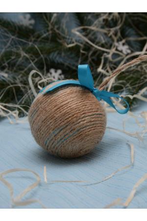 """Елочный шар """"Рождественская звезда"""" голубого цвета"""